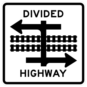 Divided Highway Tracks In The Middle Magnet