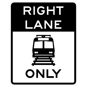 Right Lane Only Sticker