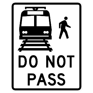Do Not Pass Bus Sticker