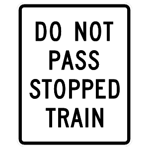 Do Not Pass Stopped Train Sticker