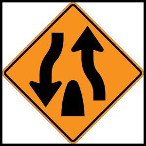 Lanes Coming Together Magnet