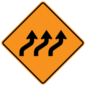 Three Lanes Moving Right Magnet