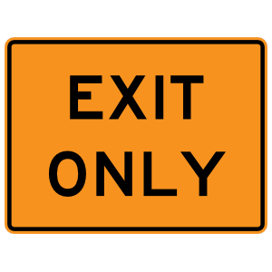 Exit Only Magnet