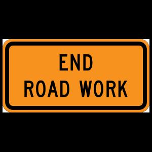 End Road Work Magnet