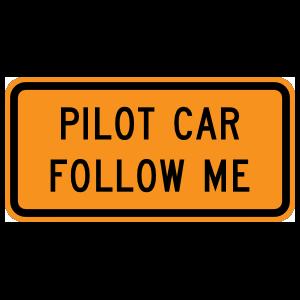 Pilot Car Follow Me Magnet