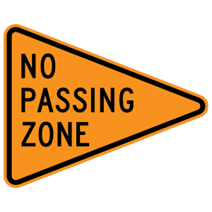 No Passing Zone Magnet