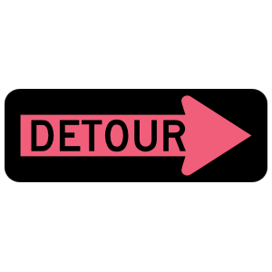 Pink Detour Right Magnet