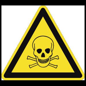 Poison Sign Sticker