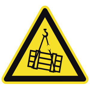 Suspended Load Sign Sticker