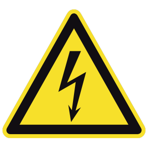 Electrical Danger Sign Sticker