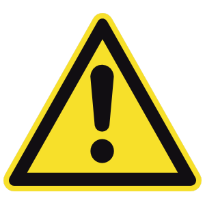Potential Danger Sign Magnet