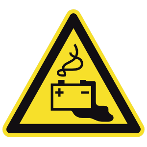 Dangerous Batteries Sign Magnet
