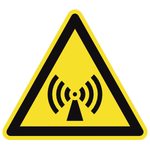 Electromagnetic Radiation Sign Sticker