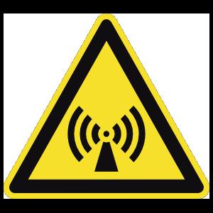 Electromagnetic Radiation Sign Magnet