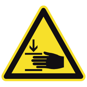 Hand Pinching Sign Magnet