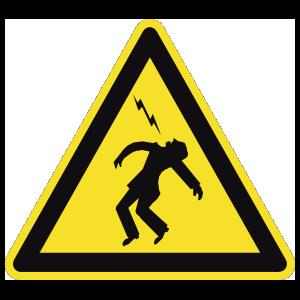 Electrocution Danger Sign Magnet