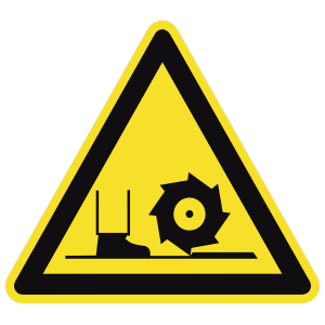 Low Machinery Sign Sticker
