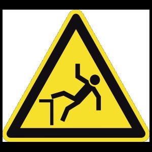 Falling Hazard Sign Magnet