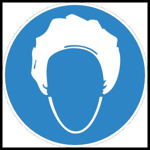 Hairnet Sign Sticker