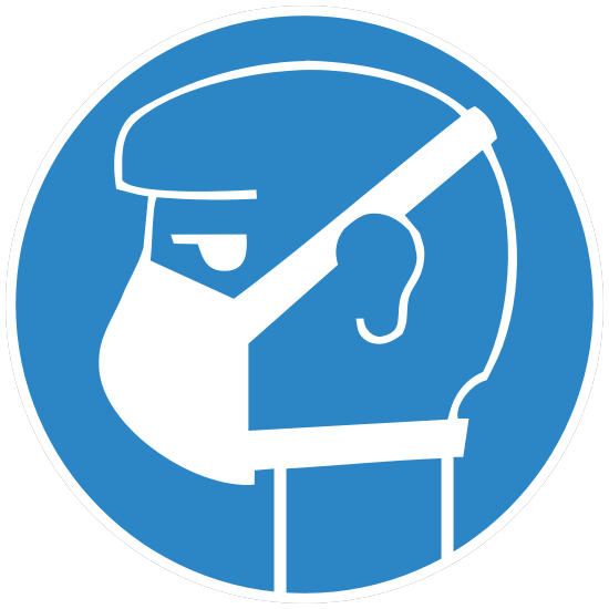 Face Mask Sign Sticker