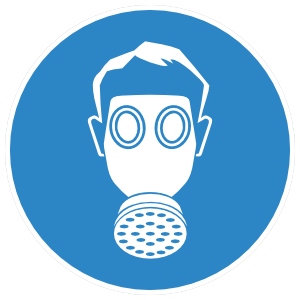 Gas Mask Sign Sticker