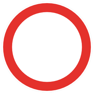 Red Circle Sign Magnet