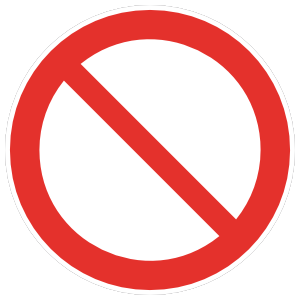 Blank No Sign Magnet