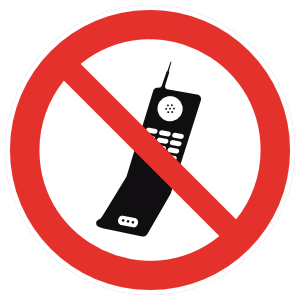 No Cell Phones Sign Magnet
