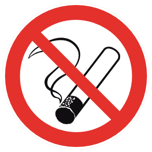 No Smoking Sign Magnet