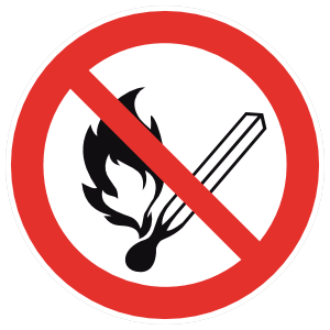 No Open Flame Sign Magnet
