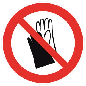 No Gloves Sign Magnet