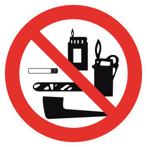 No Smoking Paraphernalia Sign Magnet