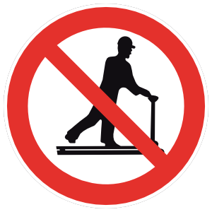 Do Not Ride Pallet Jack Sign Magnet
