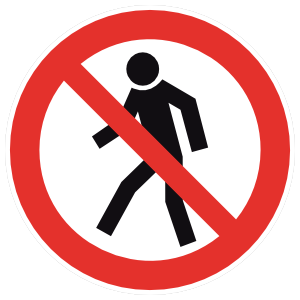 No Walking Sign Magnet