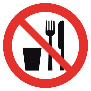 No Food Or Beverage Sign Magnet