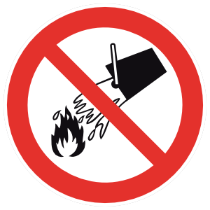 Do Not Extinguish With Water Sign Magnet