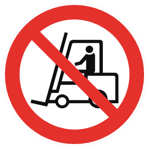No Forklifts Sign Magnet