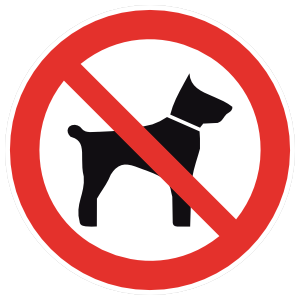 No Dogs Sign Magnet