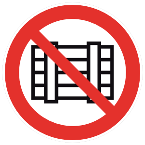 No Pallets Sign Magnet