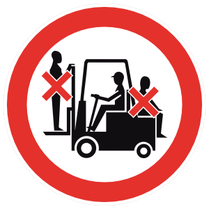 Do Not Climb On Forklift Sign Magnet