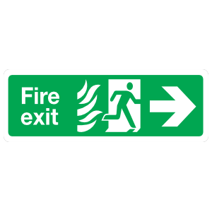 Fire Exit Right Sign Magnet