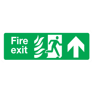 Fire Exit Up Sign Magnet
