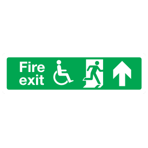 Handicapped Fire Exit Up Sign Magnet