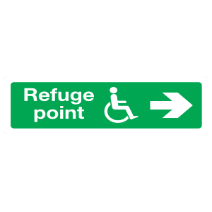 Handicap Refuge Point Right Sign Magnet
