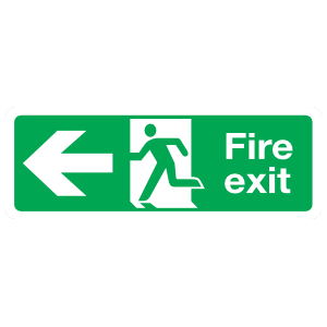 Left Fire Exit Sign Magnet