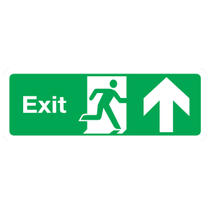 Exit Up Sign Magnet