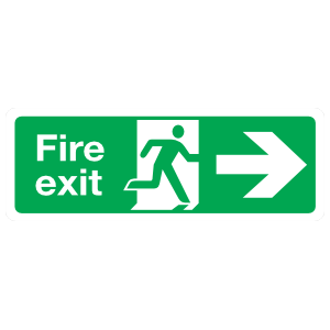 Right Fire Exit Sign Magnet