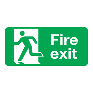 Large Fire Exit Sign Magnet