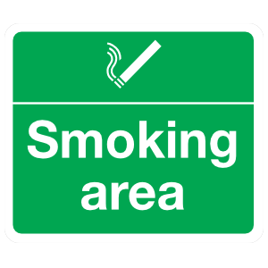 Smoking Area Sign Magnet