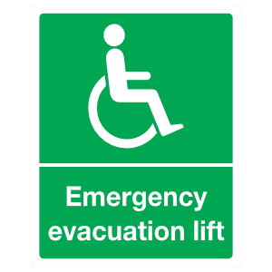 Handicapped Emergency Evacuation Lift Sign Magnet